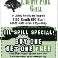 Liberty Park Grill – buy 1 get 1 free
