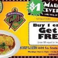 Mi Ranchito Grill coupon – buy 1 get 1 free