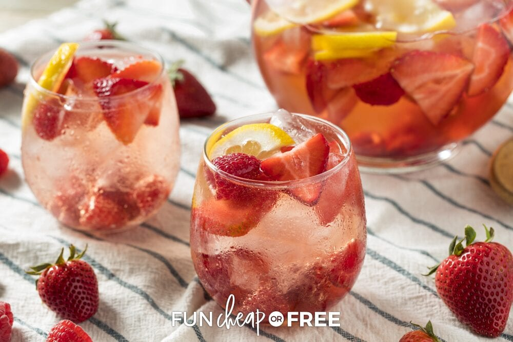 Glasses with fruit and drink in them, from Fun Cheap or Free