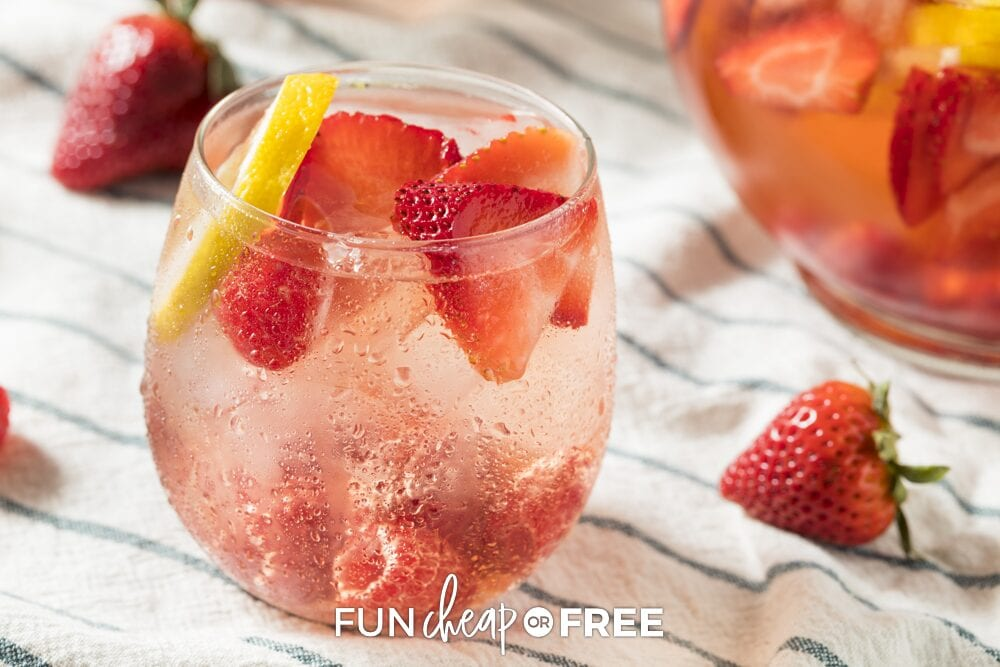 Glass of party punch with berries, from Fun Cheap or Free