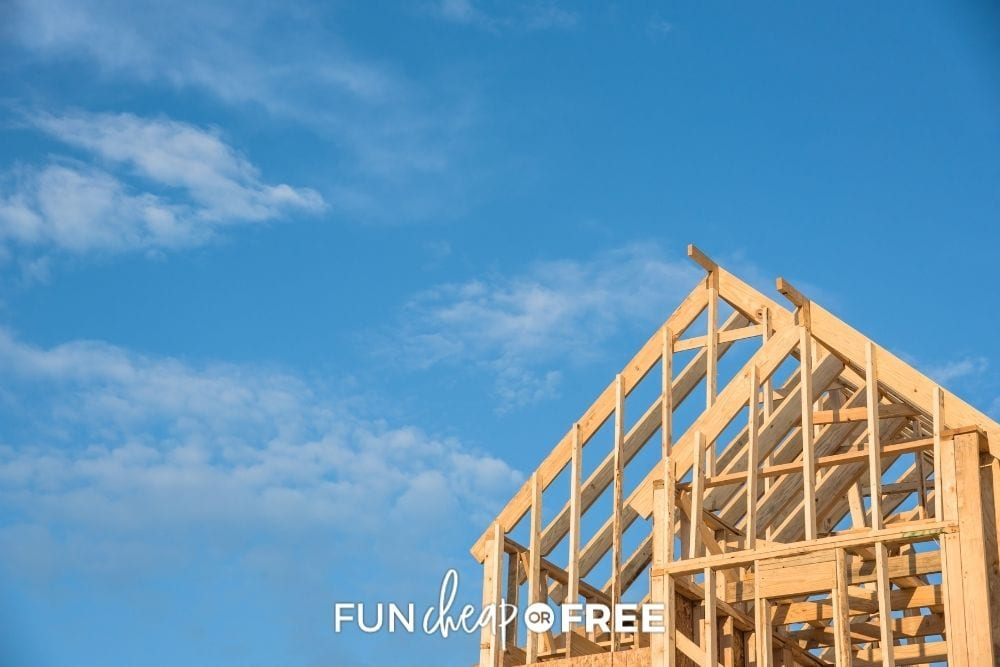 new home being built, from Fun Cheap or Free