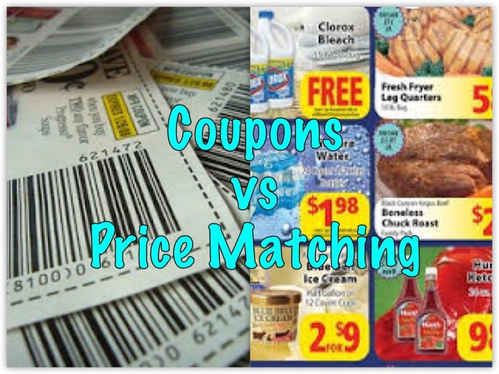 Coupons vs price mathcing