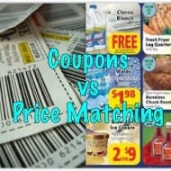 Coupon clipping vs. Price Matching