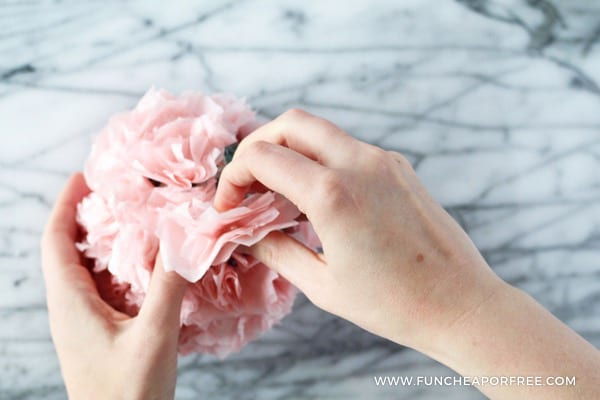 Tissue Paper Pomander Balls from www.FunCheapOrFree.com