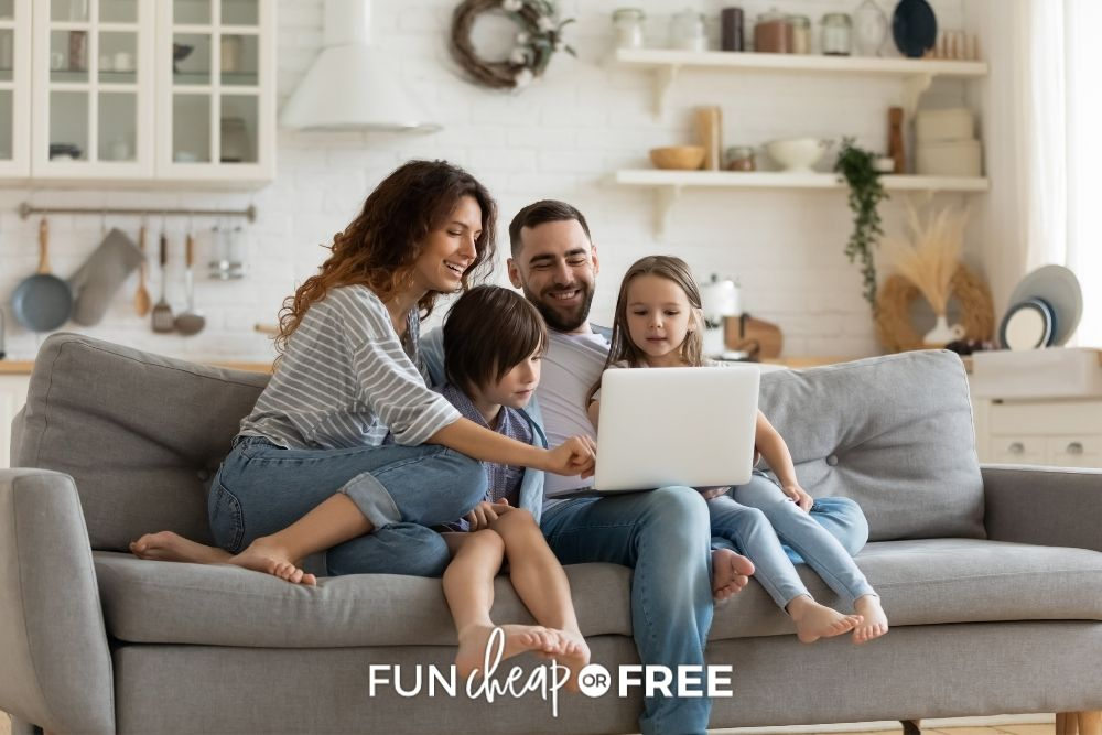 family searching deal sites for activities, from Fun Cheap or Free