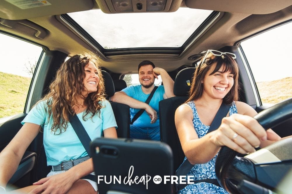 adults traveling the car, from Fun Cheap or Free
