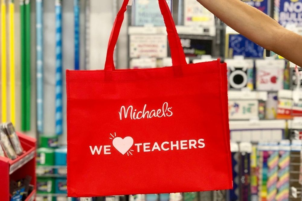 Michaels We heart teachers bag, from Fun Cheap or Free
