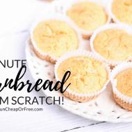 5-Minute Cornbread Recipe (from scratch!)