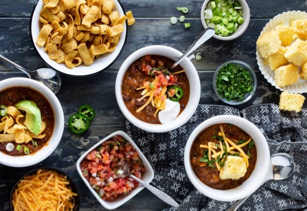 Chili Bar Party Food Ideas from FunCheapOrFree.com