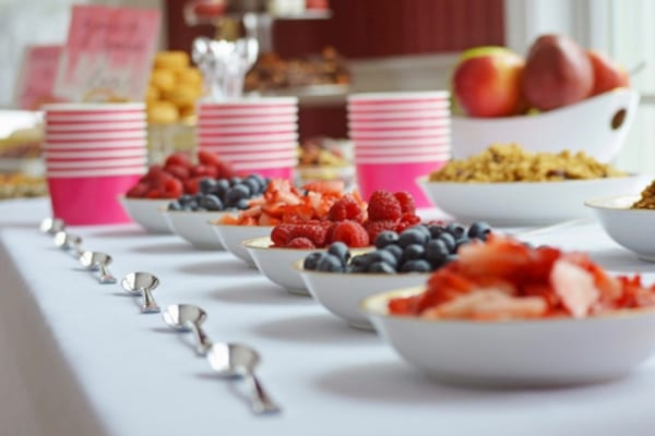 Make Your Own Parfait Bar Party Food Idea from FunCheapOrFree.com