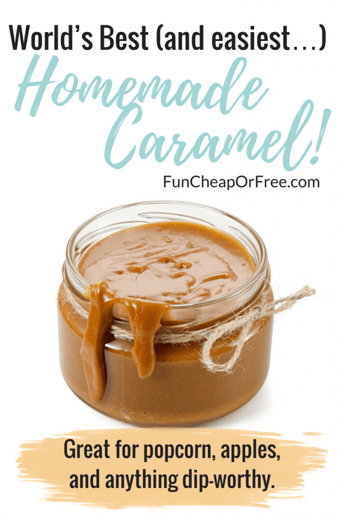 World's Best (and easiest…) homemade caramel! Great for popcorn, apples, and anything dip-worthy.