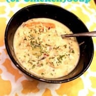 Creamy Slow Cooker Turkey Soup…made from Thanksgiving leftovers!