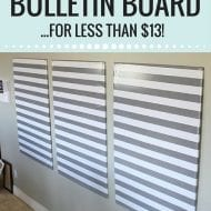 The bulletin board of all bulletin boards…DIY for less than $13!