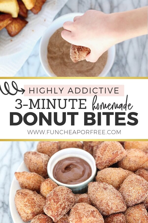 Homemade Donut Bites from Fun Cheap or Free