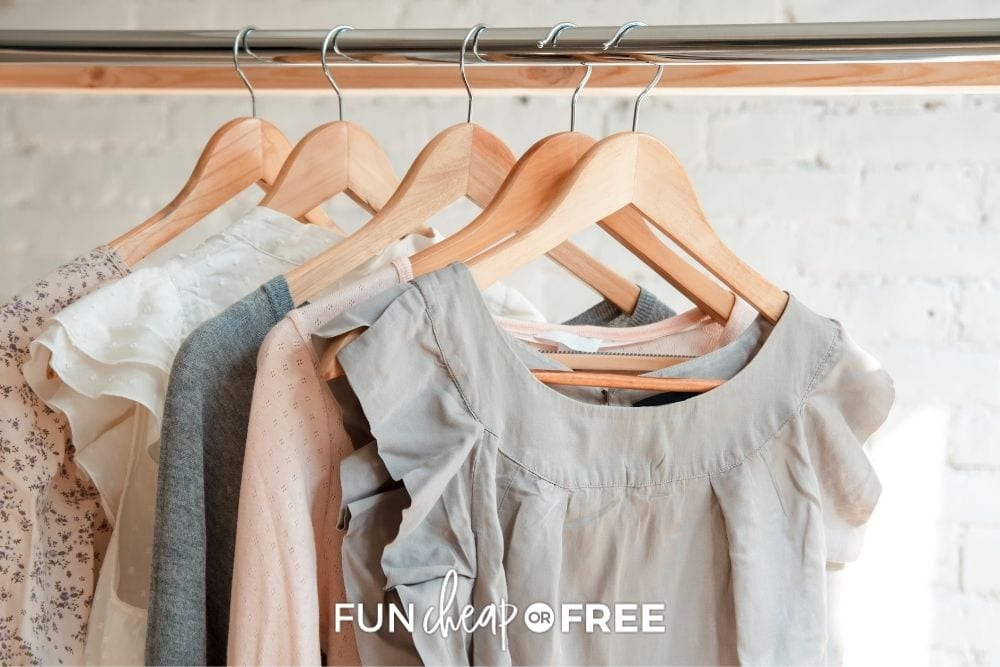 rack of hanging clothes for sale, from Fun Cheap or Free