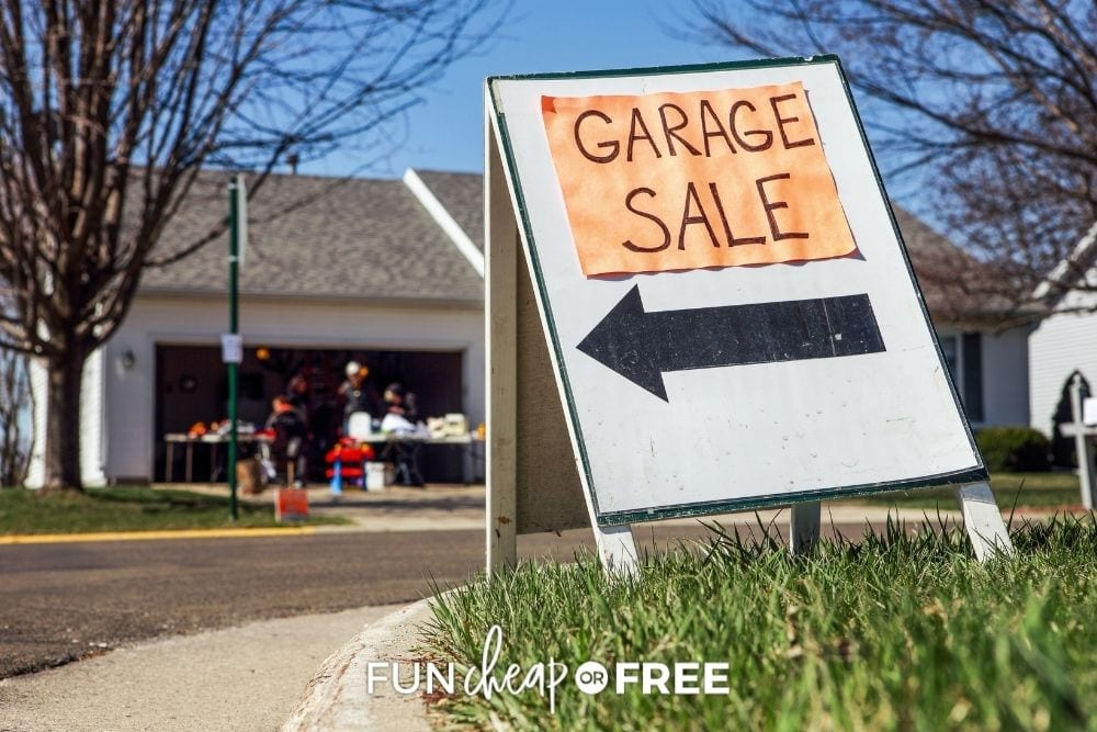 garage sale sign, from Fun Cheap or Free