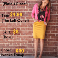 What to Wear Wednesday: Frugal Fashion Breakdown…mustard and flo..