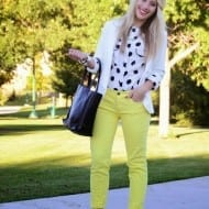 What to Wear Wednesday: Yellow, Polkadots, and sassy red pumps