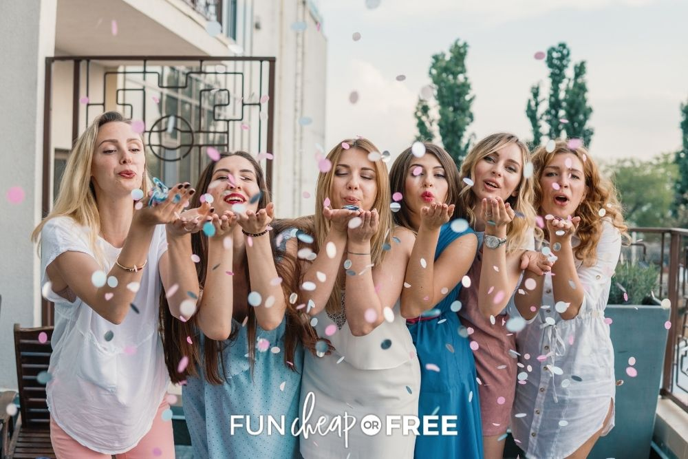 ladies at a bridal shower, from Fun Cheap or Free
