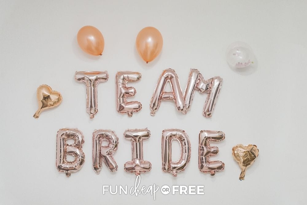 decorations for a bridal shower, from Fun Cheap or Free