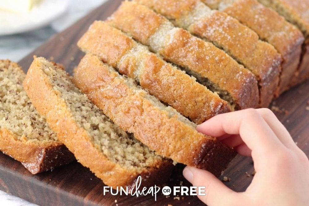 banana bread for bridal shower, from Fun Cheap or Free
