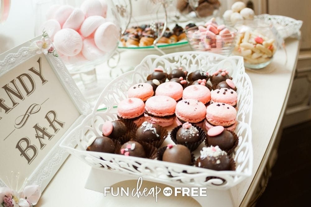 food for a bridal shower, from Fun Cheap or Free