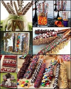 Dipped Pretzel Collage