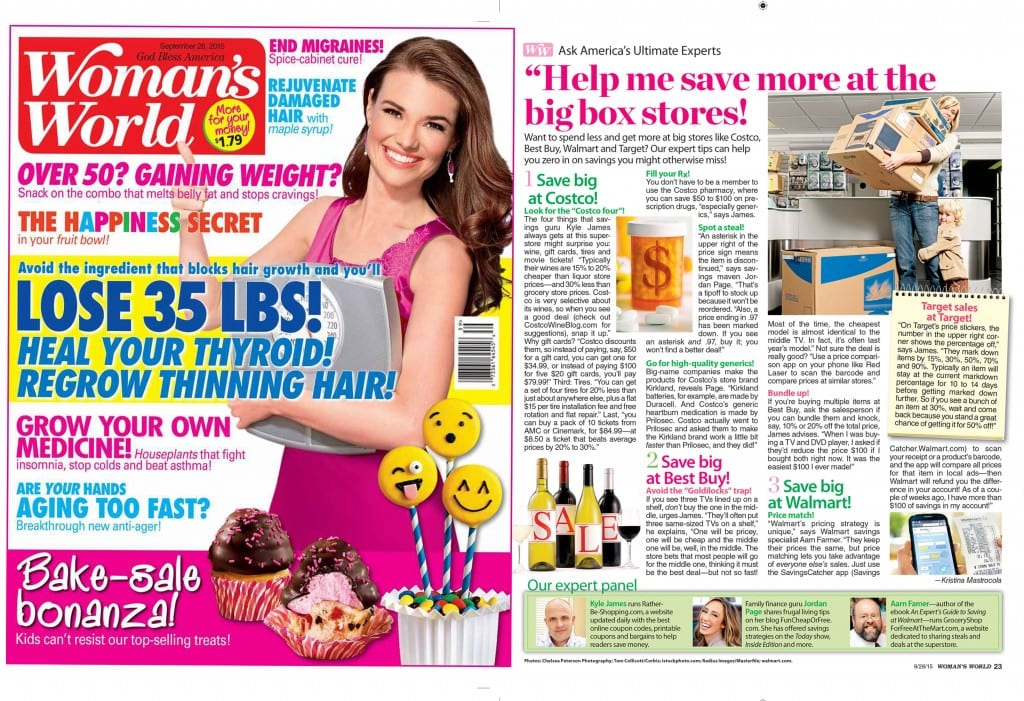 Women's World magazine article about costco