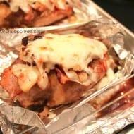 Cheesy Bacon Chicken + Honey Mustard Dipping Sauce Recipe
