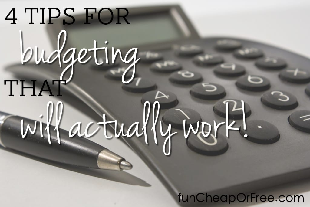 4 budgeting tips