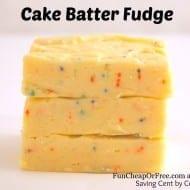 Bowl-Lickin' Cake Batter Fudge