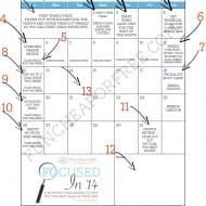 """Focus on Finances"" Calendar Printable"