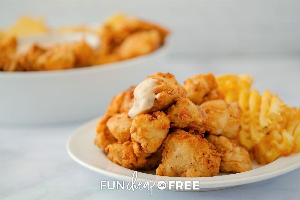 copycat Chick-fil-A nuggets recipe, from Shelf Cooking