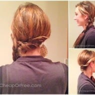 "Easy twisted side-braid, my ""You can't tell I didn't.."