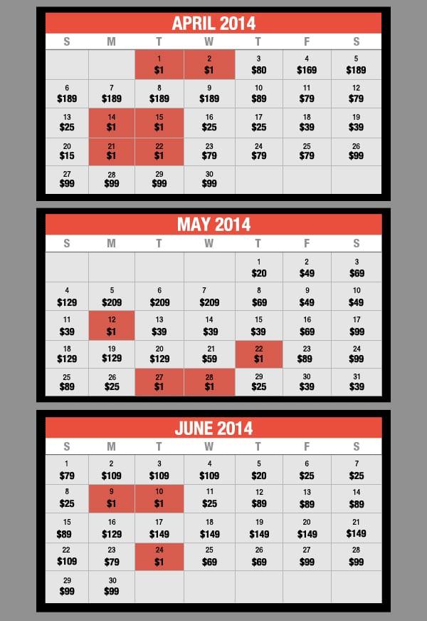 May Calendar Vegas : Las vegas hotel deals rooms for fun cheap or free