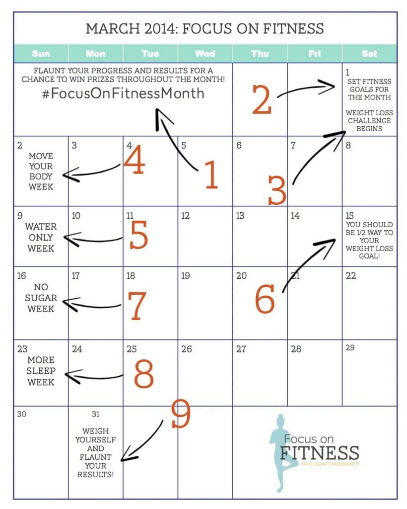 March - Focus on Fitness Calendar
