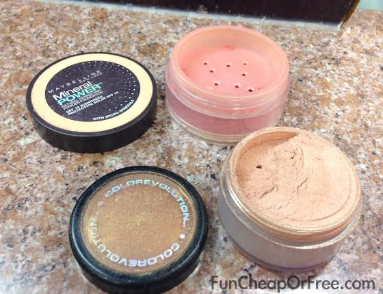 Reuse your makeup containers instead of throwing them out