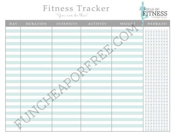 photo relating to Printable Fitness Log called Totally free Printable Food items and Health and fitness Log! - Enjoyable Low-cost or Absolutely free