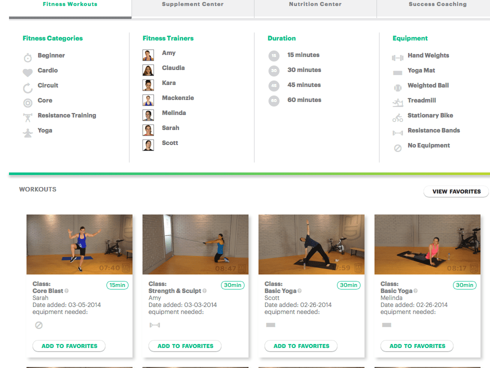 Any kind of online workout you could need
