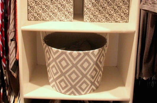 Use catch-all baskets to keep your home clean.