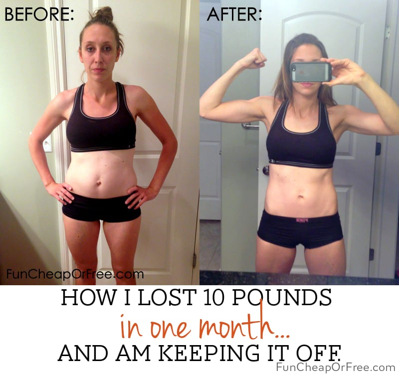 How I lost 10 pounds in a month...and am keeping it off.