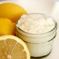 3-Ingredient Lemon Sugar Scrub