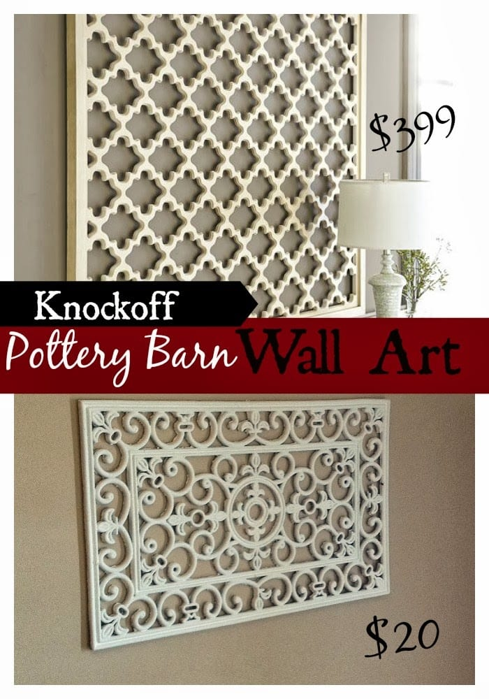 Diy pottery barn wall art knockoff fun cheap or free Low cost wall decor