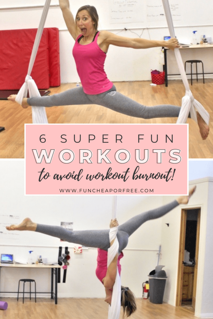 "Image with text that reads ""6 super fun workouts"" from Fun Cheap or Free"
