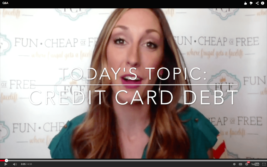 How to pay off credit card debt and other debt questions from FunCheapOrFree