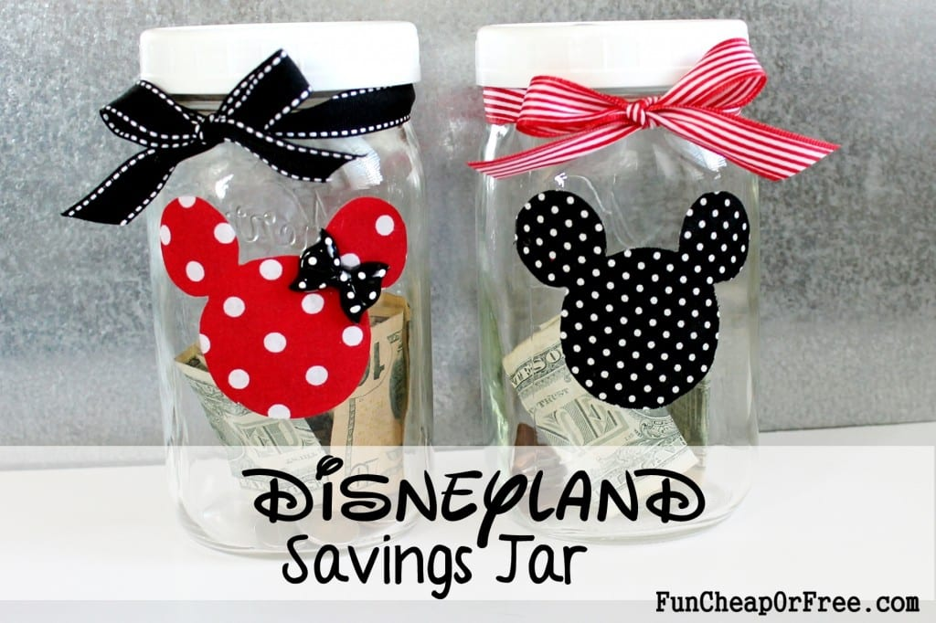 DIY Disneyland Savings jar for kids