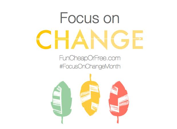 Focus on Change month: 30 days of positive change challenge