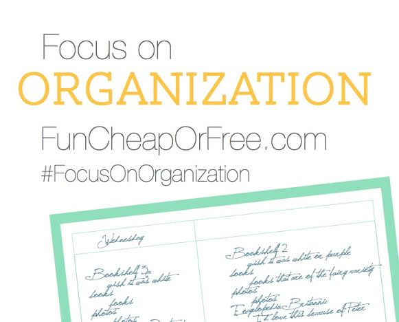 "April ""Focus on Organization"" month-long challenge"