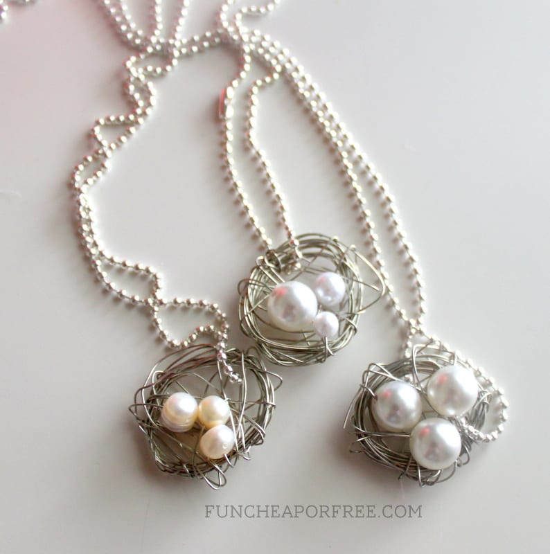 3 minute nest necklace tutorial