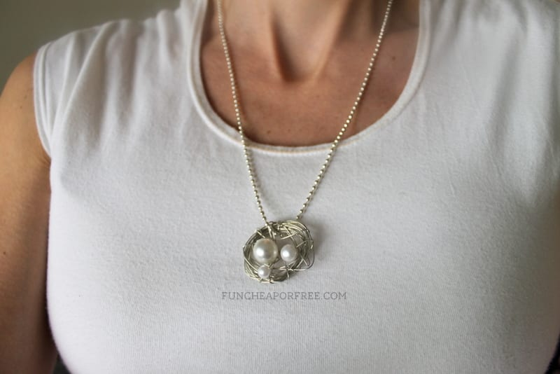3-minute nest necklace tutorial